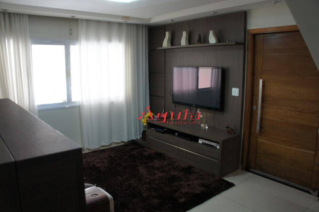 Sobrado com 3 dormitórios à venda, 198 m² por R$ 720.000 - Parque Erasmo Assunção - Santo André/SP