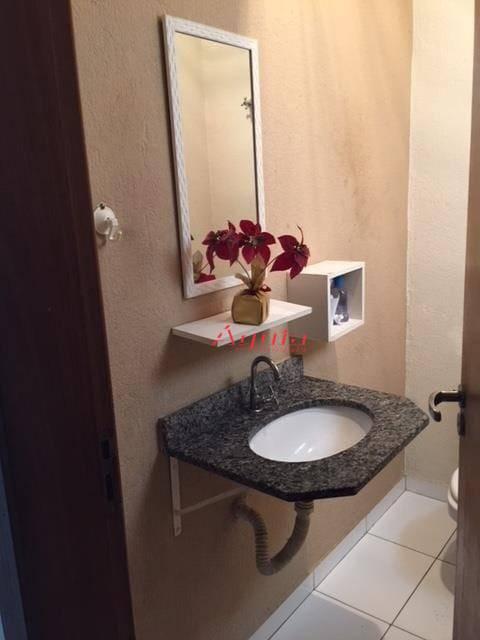 Sobrado com 3 dormitórios à venda, 116 m² por R$ 399.000 - Vila Linda - Santo André/SP