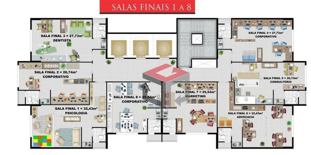 Sala à venda em Baeta Neves, São Bernardo Do Campo - SP