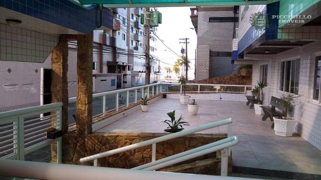 Apartamento com 2 dormitórios para alugar, 66 m² por R$ 1.600/mês - Vila Assunção - Praia Grande/SP