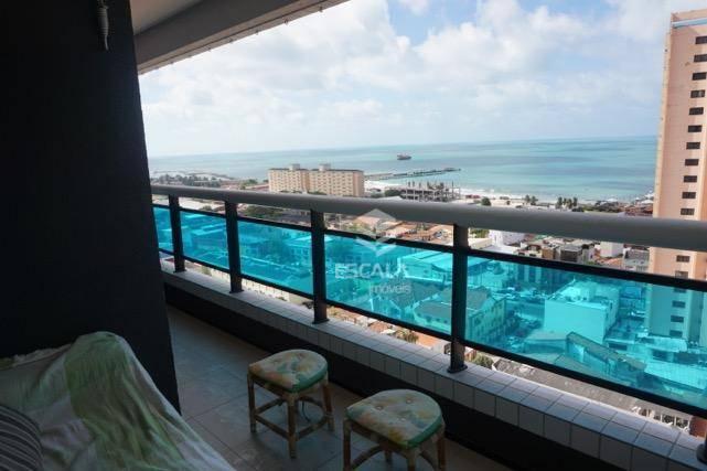 Apartamento com 2 quartos à venda, 72 m², vista mar, mobiliado, área de lazer, 2 vagas - Praia de Iracema - Fortaleza/CE