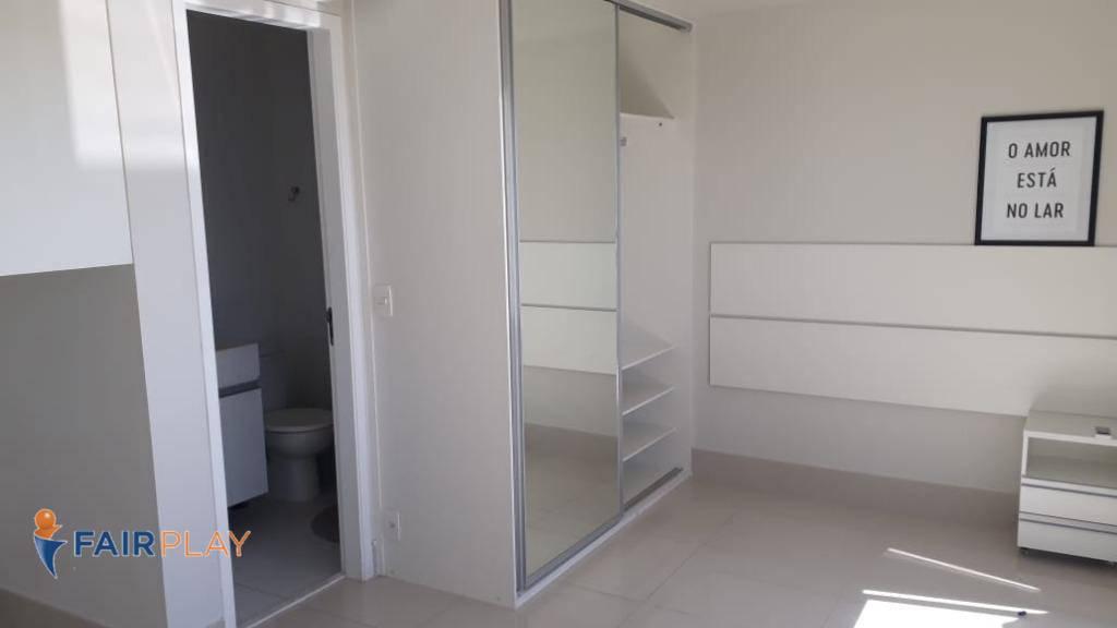 Apartamento Studio semi mobiliado com lazer completo no Alto da Boa Vista
