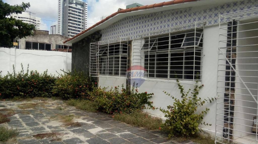 Ótima Casa para Comércio ou Residência, aluguel ou venda, na melhor localização de Boa Viagem, Recife-PE com 176,61m² construído, 308m² de terreno