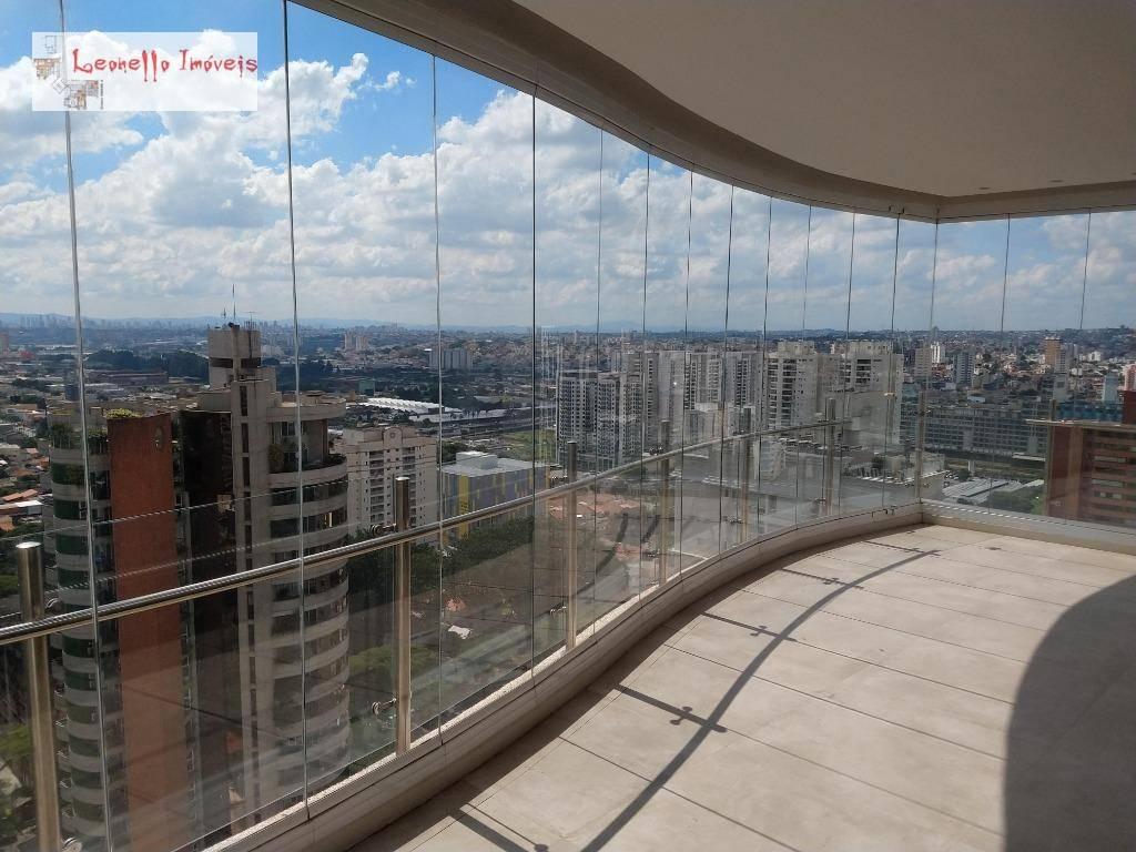 Cobertura Alto Padrão Mobiliada, 432 m², 3 suítes para venda ou locação - Jardim - Santo André/SP