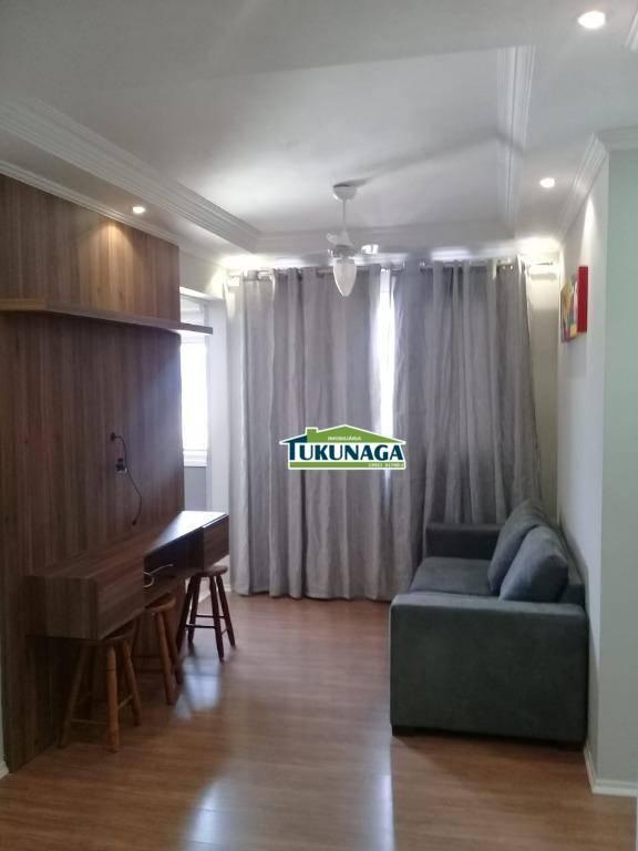 Apartamento 100% mobiliado  com 2 dormitórios para alugar, 59 m² por R$ 2.050/mês - Picanco - Guarulhos/SP