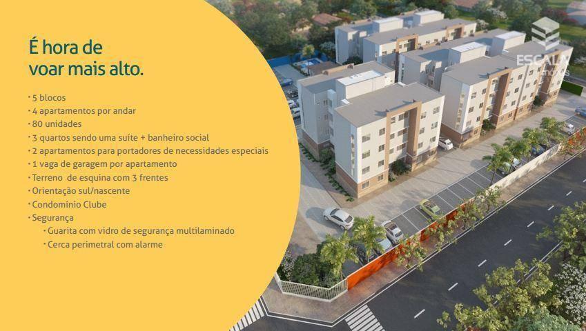 Apartamento com 3 quartos à venda, 57 m², área de lazer, financia ? Barra Nova - Caucaia/CE