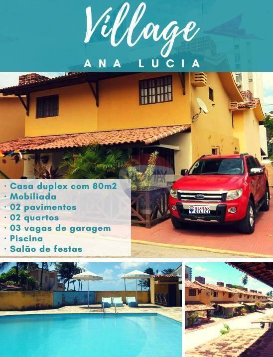 Casa com 2 dormitórios à venda, 80 m² por R$ 290.000 - Pau Amarelo - Paulista/PE