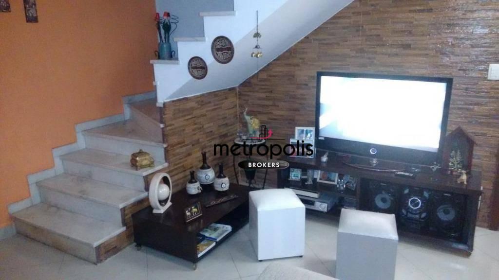 Sobrado à venda, 212 m² por R$ 640.000,00 - Nova Gerti - São Caetano do Sul/SP