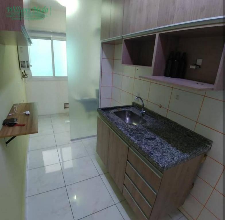 Apartamento com 3 dormitórios para alugar, 74 m² por R$ 1.250,00/mês - Gopoúva - Guarulhos/SP