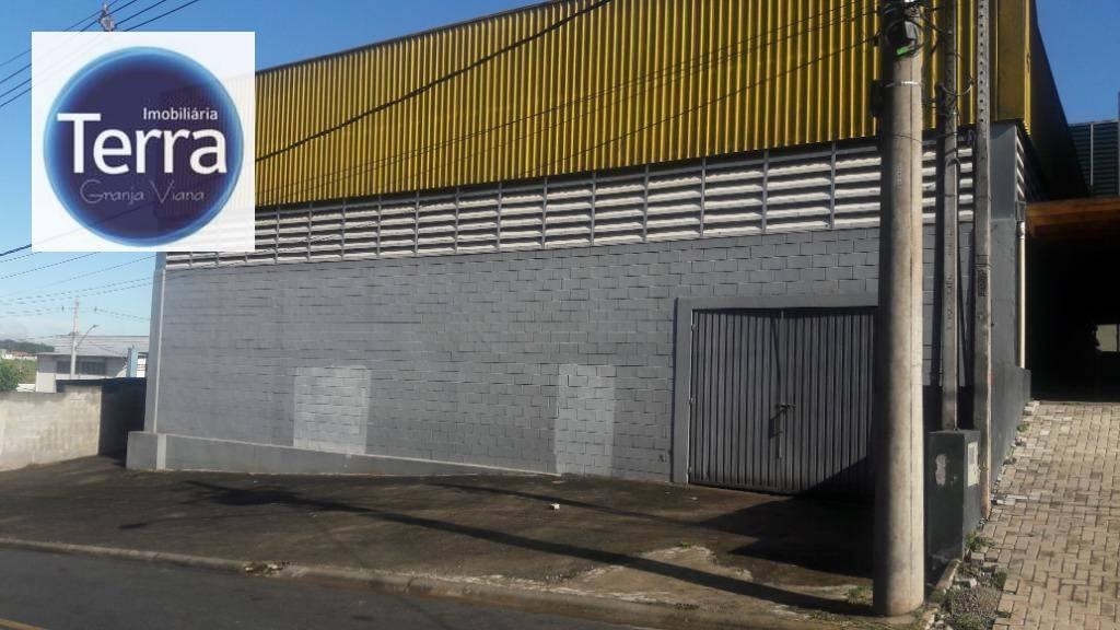 Galpão para alugar, 420 m² por R$ 7.500/mês - Centro Empresarial Raposo Tavares - Vargem Grande Paulista/SP