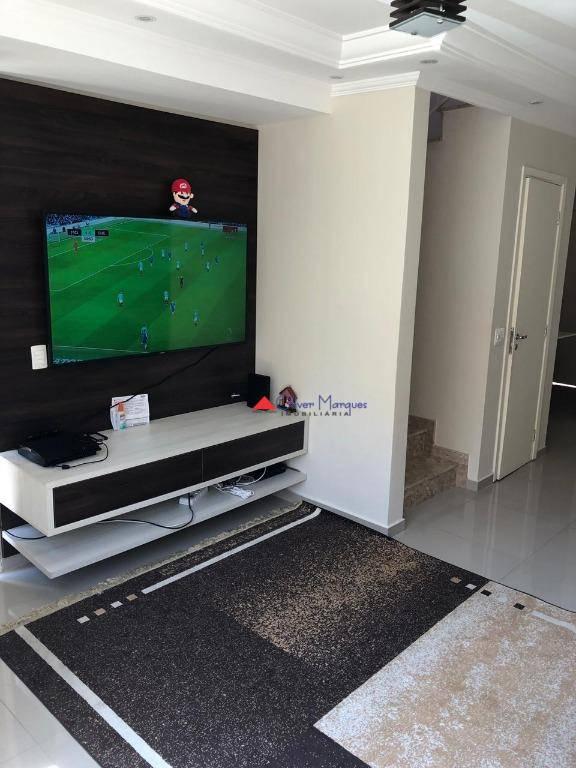 Sobrado com 3 dormitórios à venda, 100 m² por R$ 401.000 - Jardim Petrópolis - Cotia/SP