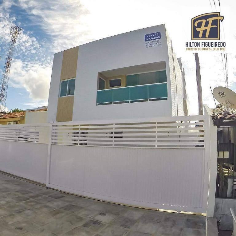 Apartamento com 2 dormitórios sendo um suite no primeiro andar à venda, 44 m² - Castelo Branco - João Pessoa/PB