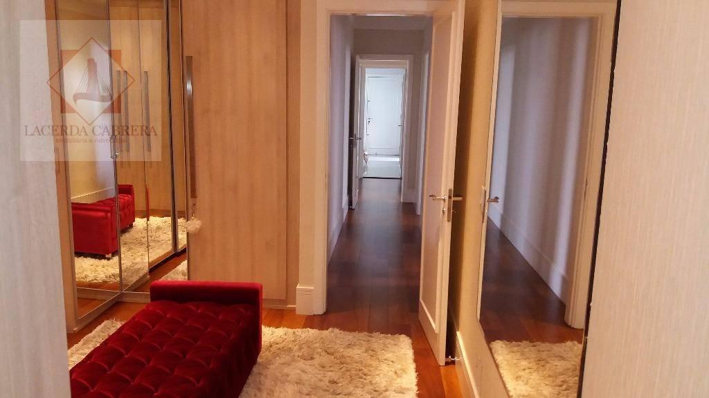 espetacular apartamento de alto padrão à venda! finamente decorado, 281 mt.2 mais 20 m2. de churrasqueira,...
