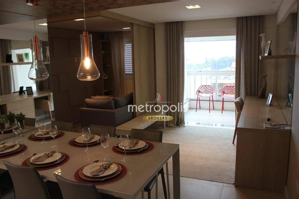 Apartamento com 2 dormitórios à venda, 60 m² por R$ 345.000 - Campestre - Santo André/SP