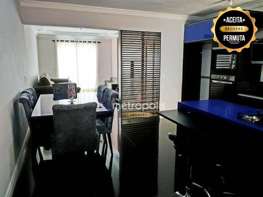 Cobertura com 3 dormitórios à venda, 186 m² por R$ 480.000,00 - Vila Camilópolis - Santo André/SP
