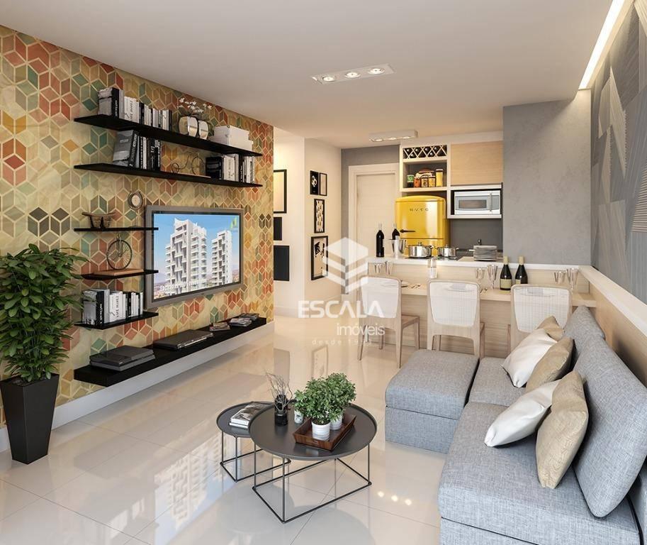 Apartamento com 2 quartos à venda, 53 m², área de lazer, 1 vaga, financia - cidade dos Funcionários - Fortaleza/CE
