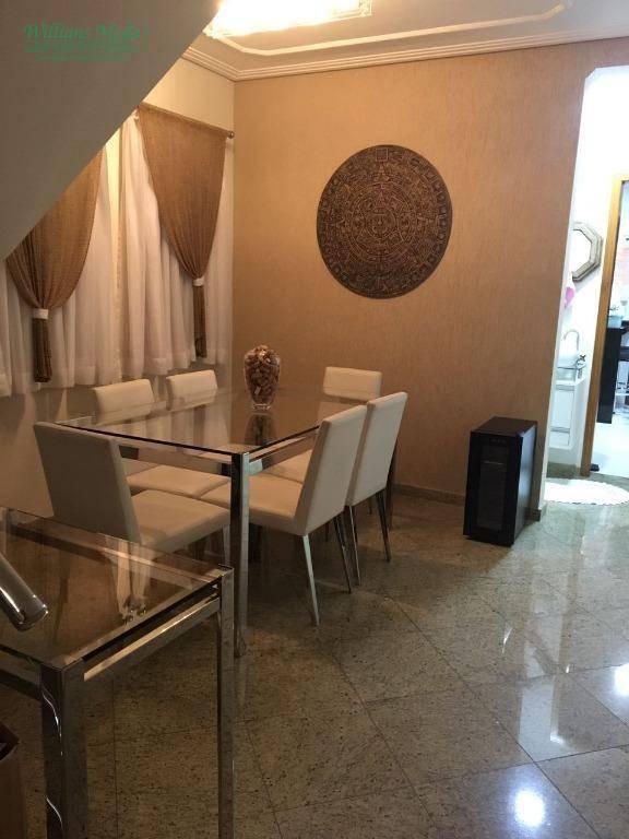 Sobrado residencial à venda, Vila Augusta, Guarulhos.