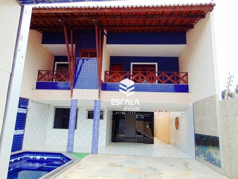 Casa duplex com 3 quartos à venda, 194 m², gabinete, 3 suítes, 4 vagas -  Luciano Cavalcante - Fortaleza/CE