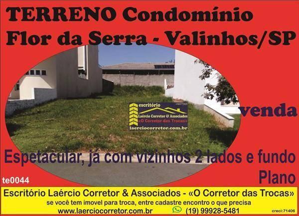 Terreno Condomínio Valinhos, com  341m² - R$ 265mil