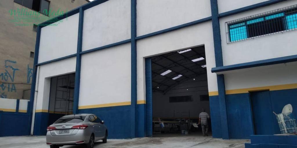 Galpão para alugar, 820 m² por R$ 10.500,00/mês - Cidade Industrial Satélite de São Paulo - Guarulhos/SP