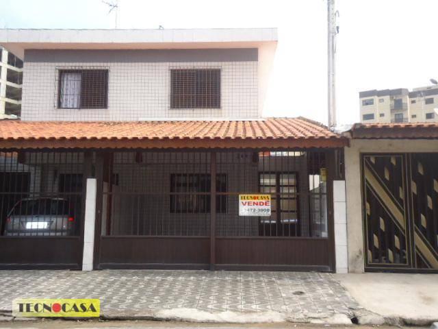 Sobrado residencial à venda, Vila Caiçara, Praia Grande - SO0884.