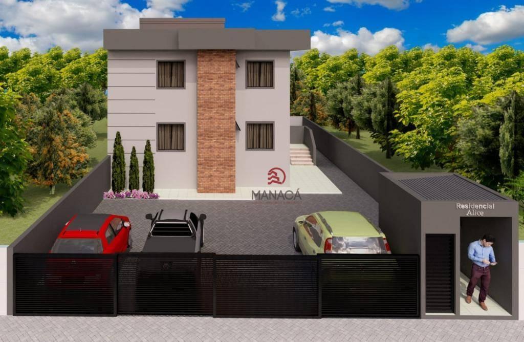 Apartamento com 2 dormitórios à venda, 47 m² por R$ 130.000 - Itajuba - Barra Velha/SC
