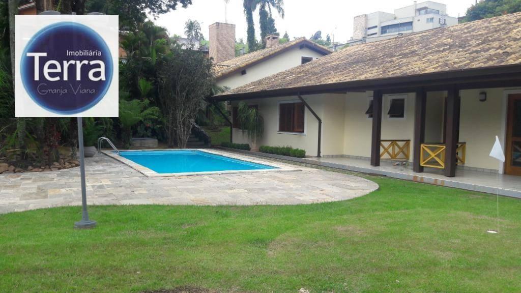 Casa com 4 dormitórios à venda e locação, 500 m² por R$ 2.300.000 - Recanto Inpla - Granja Viana.