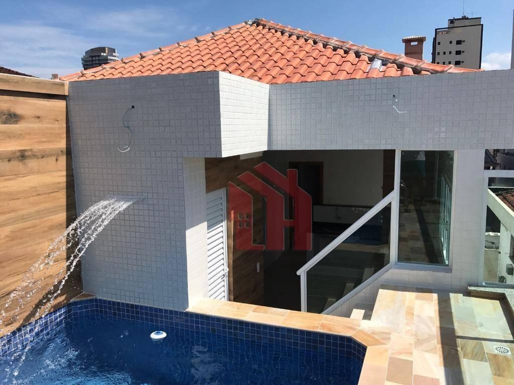Casa com 3 dormitórios à venda NOVA com  piscina e churrasqueira - Aparecida - Santos/SP
