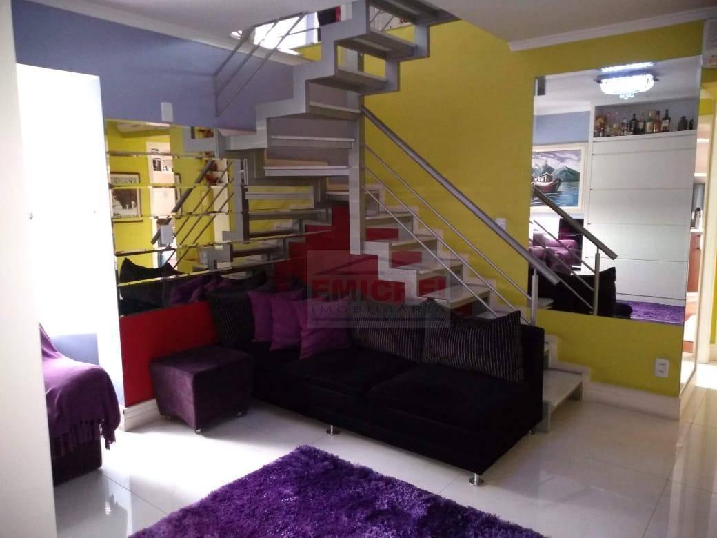 EMICREI VENDE - Apto cobertura duplex, vista panorâmica, 100% mobiliada, fino acabamento, box 2 carros - Centro - São Leopoldo