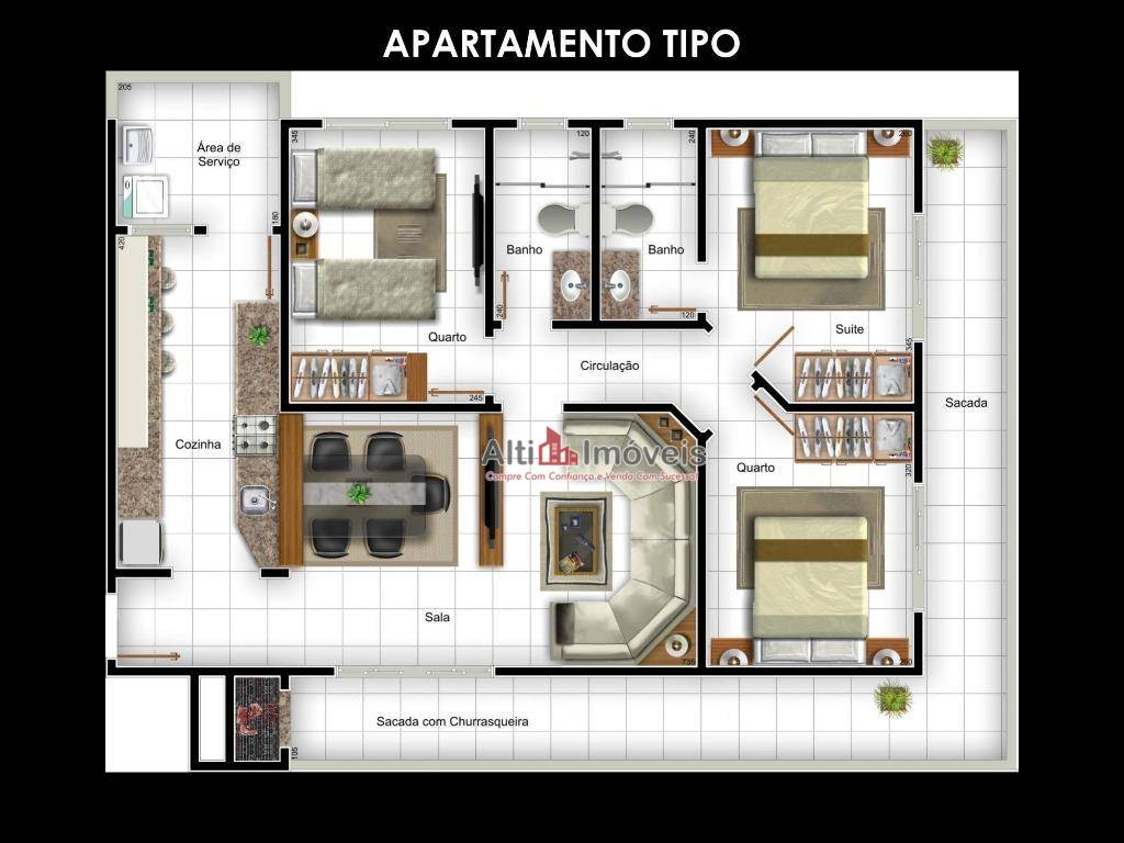 Residence Málaga, 3 quartos, 1 suíte 95 mt²