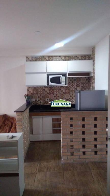 Studio com 1 dormitório para alugar, 36 m² por R$ 1.500/mês - Vila Augusta - Guarulhos/SP