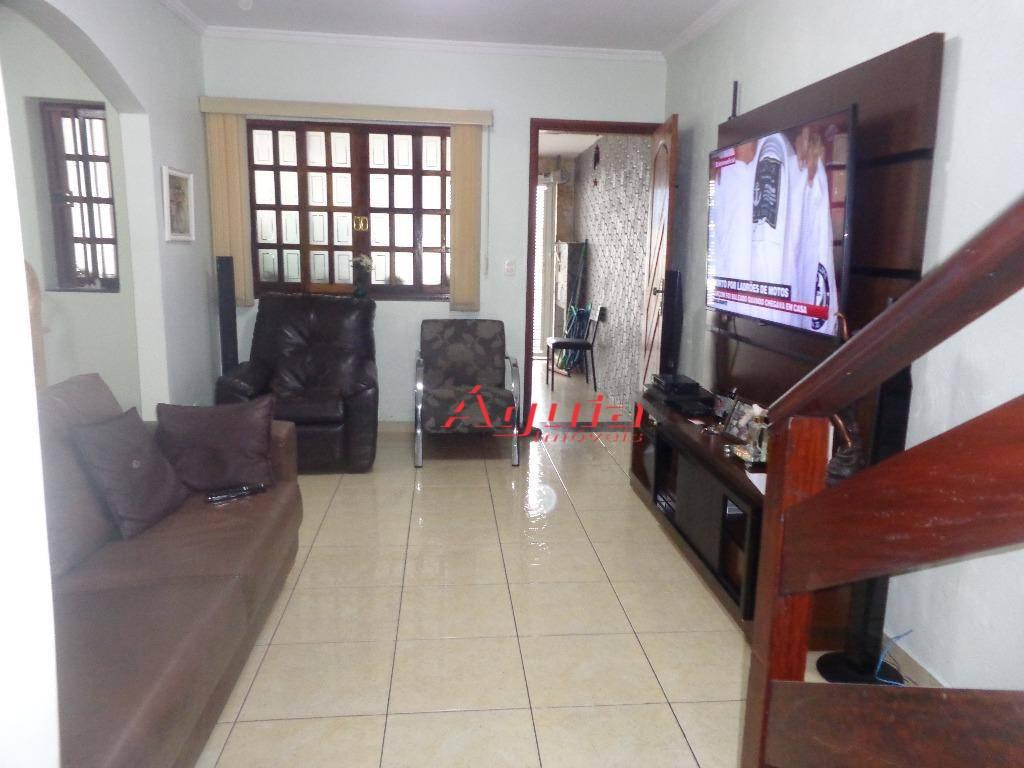Sobrado residencial à venda, Jardim Santo Antônio, Santo André - SO0626.