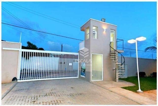 Casa duplex com 2 quartos à venda, 70 m², 2 vagas, área de lazer, financia - Messejana - Fortaleza/CE