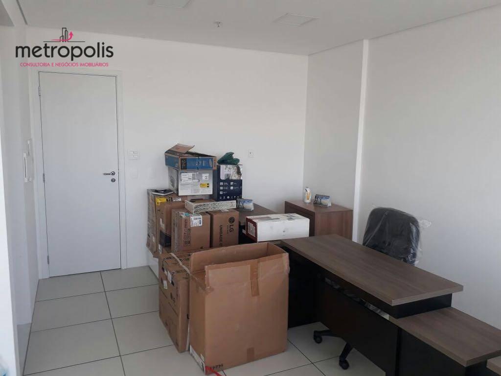 Sala comercial para locação, Vila Homero Thon, Santo André.