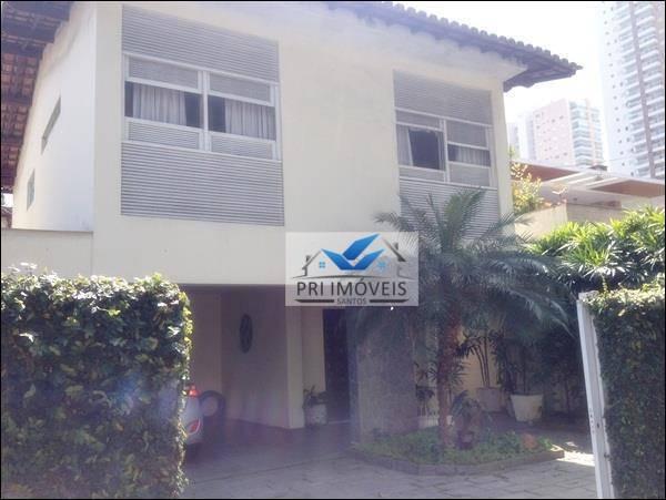 Sobrado para alugar, 380 m² por R$ 6.500,00/mês - Ponta da Praia - Santos/SP