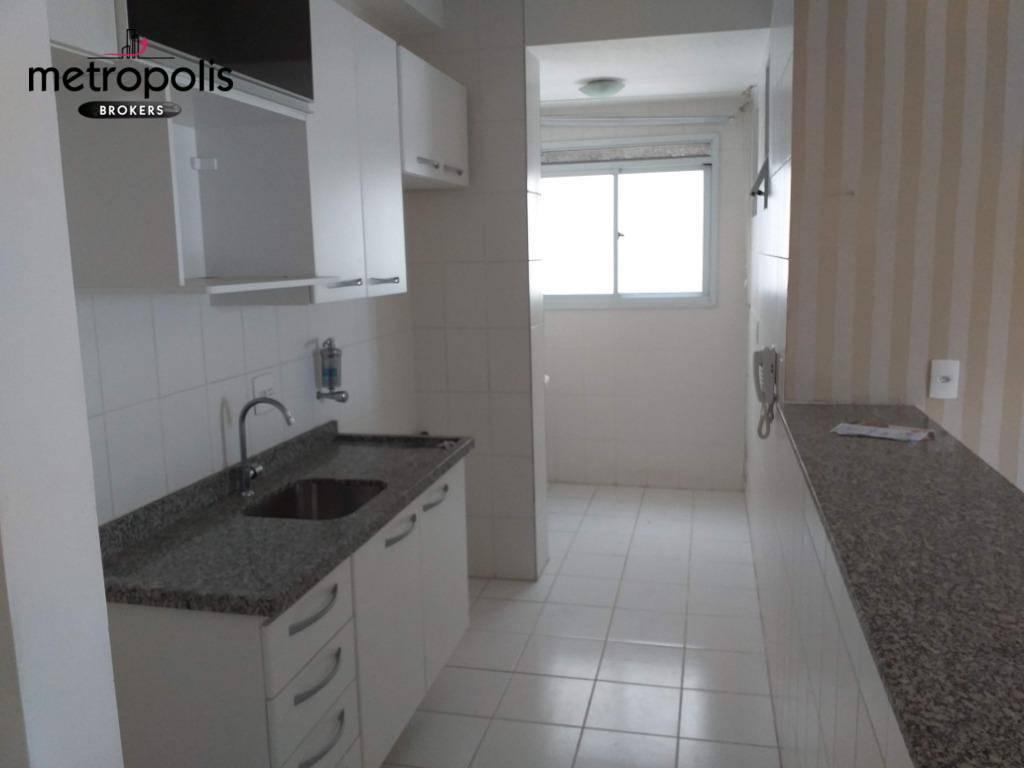 Apartamento com 3 dormitórios para alugar, 64 m² por R$ 1.500,00/mês - Campestre - Santo André/SP