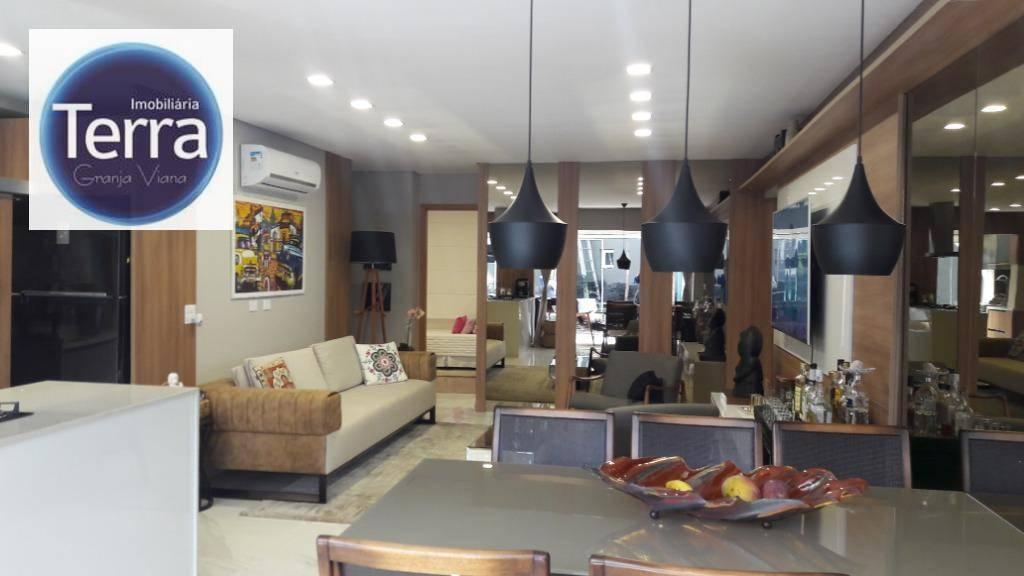 Apartamento com 3 dormitórios à venda, 107 m² por R$ 900.000 - Costa do Marfim - Granja Viana