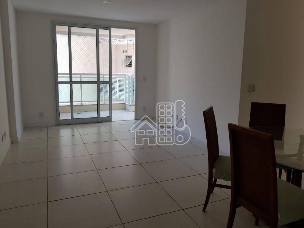 Apartamento com 3 dormitórios para alugar, 114 m² por R$ 3.100/mês - Icaraí - Niterói/RJ