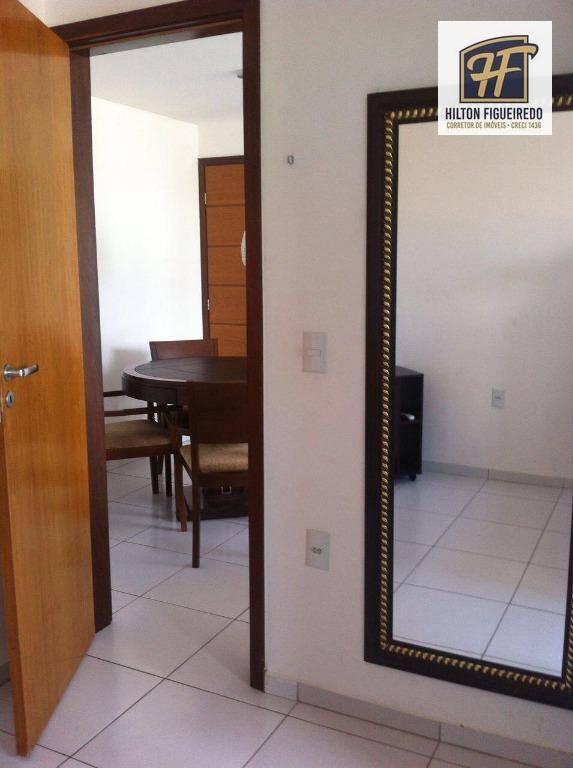 Apartamento com 1 dormitório todo mobiliado  para alugar, 41 m² por R$ 1.300/ano - Bessa - João Pessoa/PB