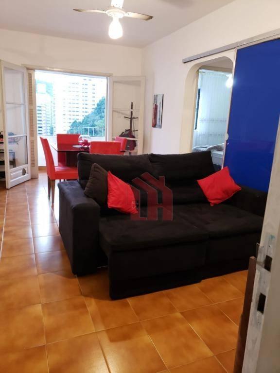 Apartamento com 1 dormitório para alugar, 60 m² por R$ 1.600,00/mês - Centro - Guarujá/SP
