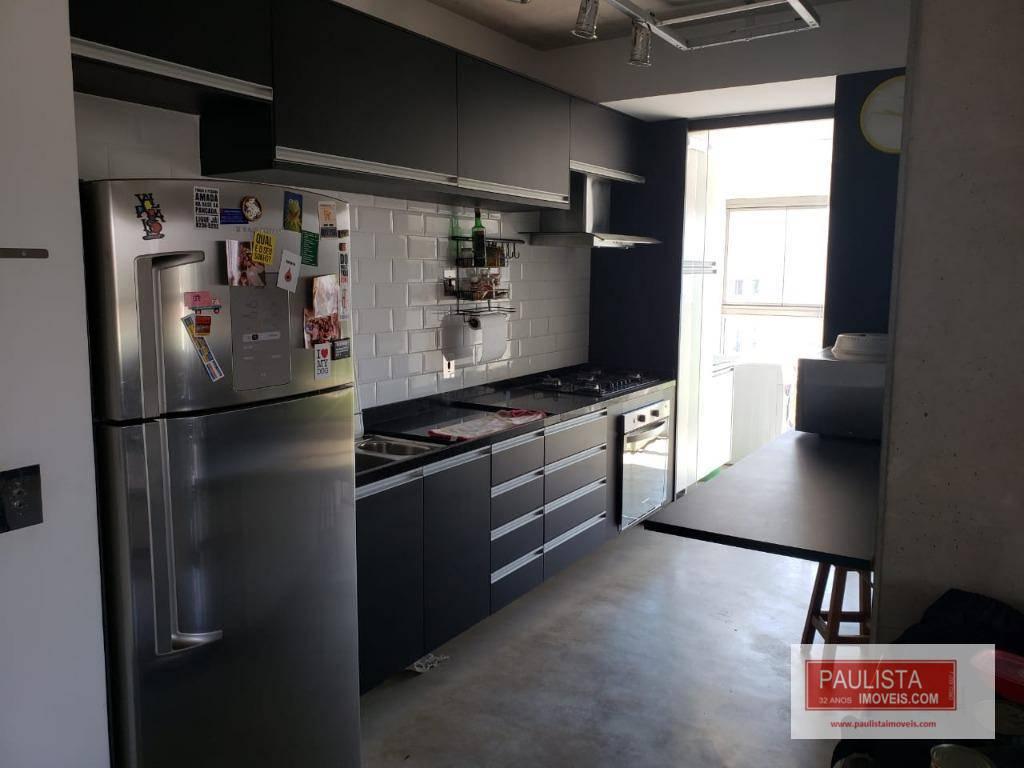 Apartamento com 1 dormitório para alugar, 70 m² por R$ 1.990/mês - Santo Amaro - São Paulo/SP