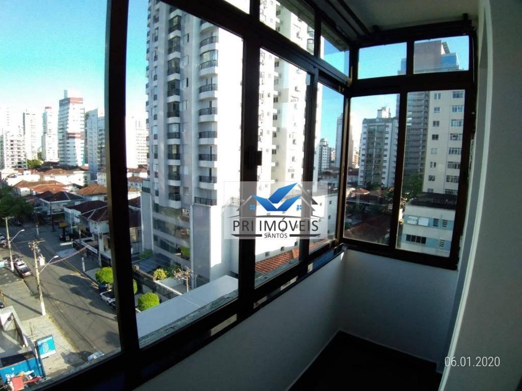Apartamento para alugar, 115 m² por R$ 3.500,00/mês - Gonzaga - Santos/SP
