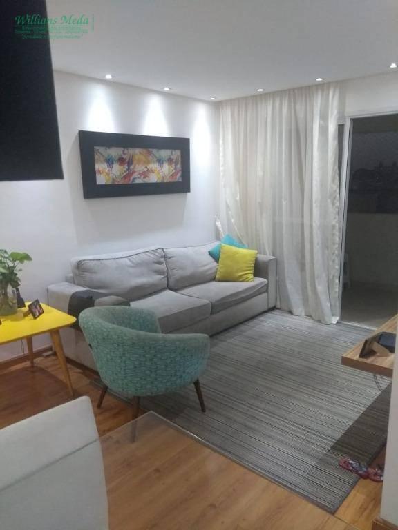 Apartamento com 3 dormitórios à venda, 82 m² por R$ 540.000 - Vila Augusta - Guarulhos/SP