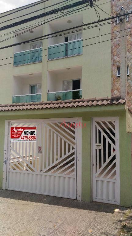 Apartamento com 2 dormitórios à venda, 70 m² por R$ 325.000,00 - Vila Curuçá - Santo André/SP