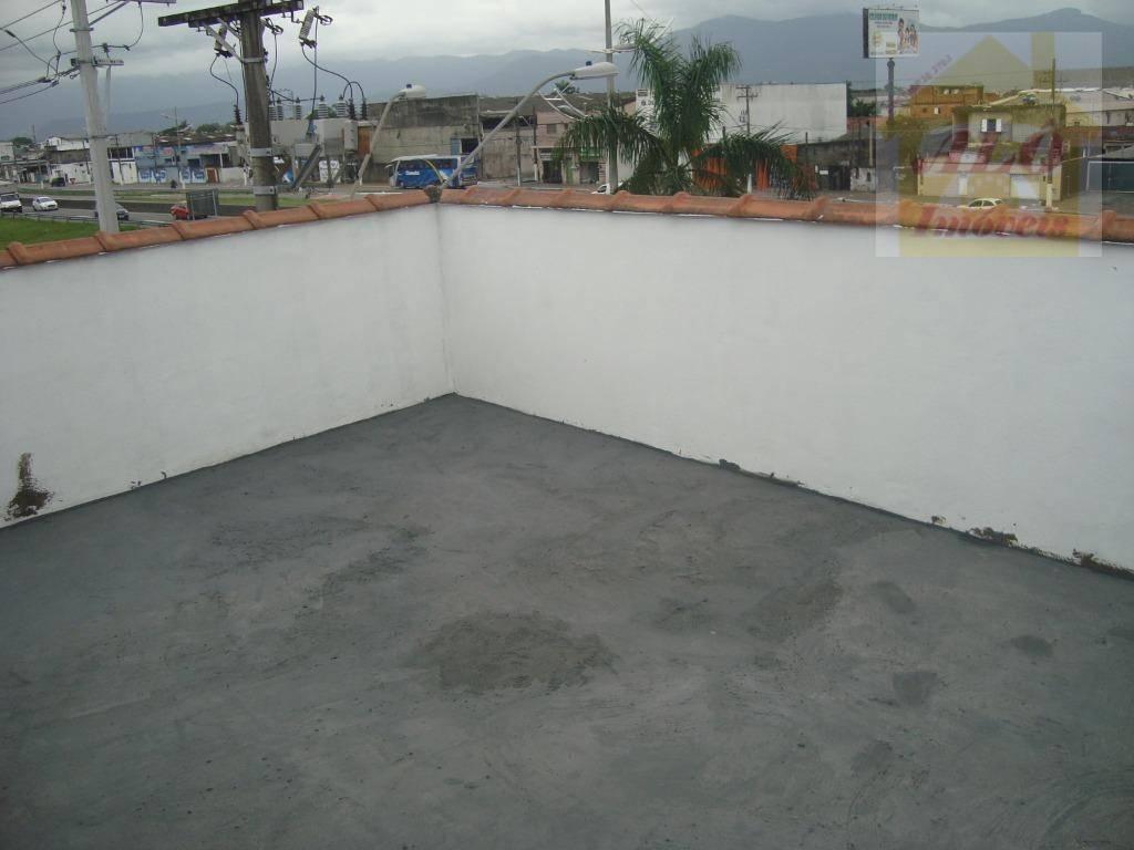 Casa com 1 dormitório para alugar, 39 m² por R$ 600,00/mês - Vila Guilhermina - Praia Grande/SP