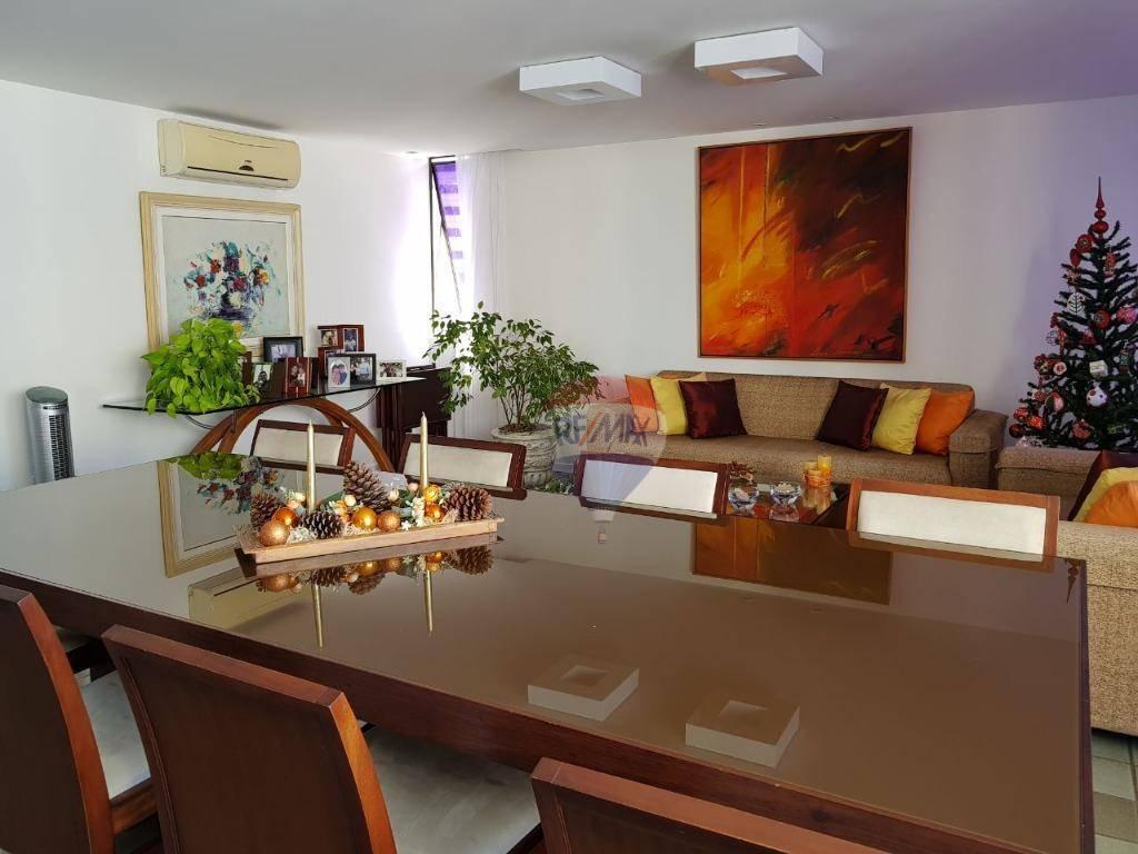 Apartamento com 3 dormitórios para alugar, 170 m² por R$ 4.950/mês - Boa Viagem - Recife/PE