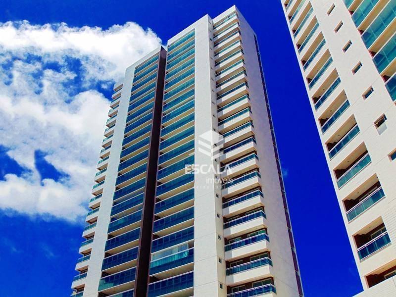 Apartamento com 4 quartos à venda, 165 m², novo, lazer completo, 3 vagas, financia - Papicu - Fortaleza/CE