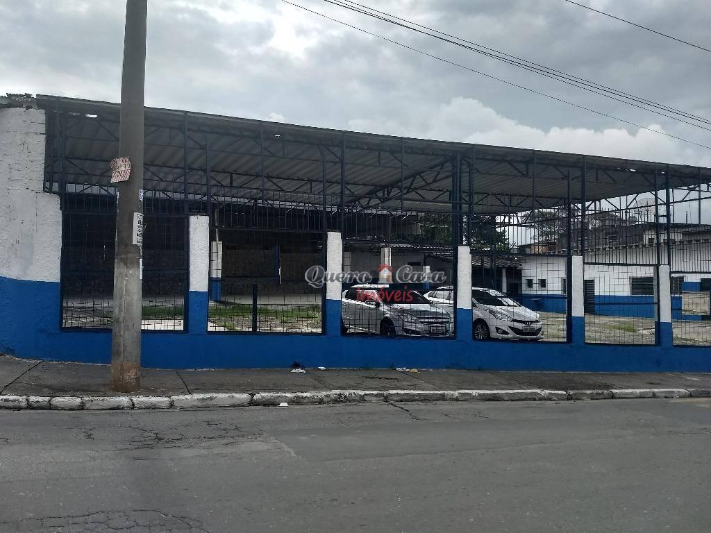 Galpão comercial para locação, Jardim Bela Vista, Guarulhos.