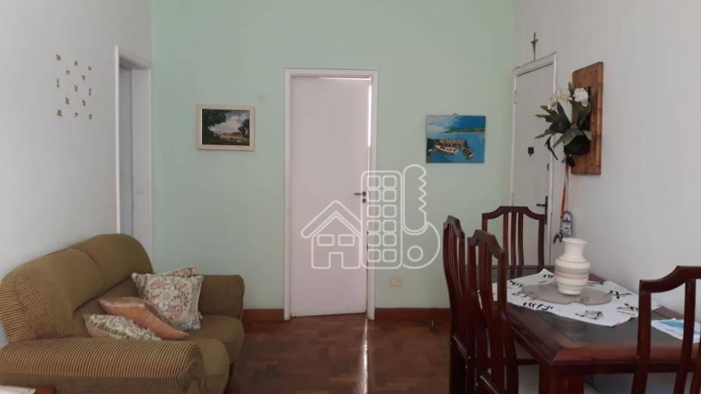 Apartamento com 2 dormitórios para alugar, 60 m² por R$ 1.500,00/mês - Icaraí - Niterói/RJ