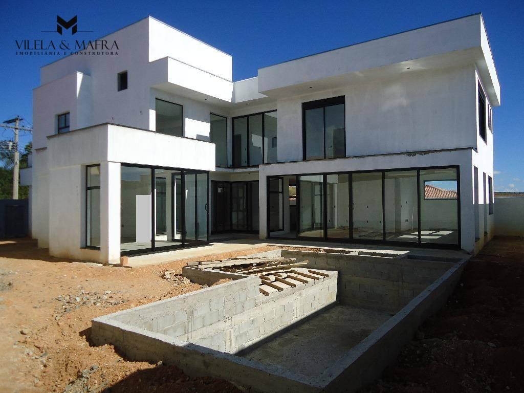 casa de alto padrão, em fase final de acabamento (quase pronta), com 430 m² de área...